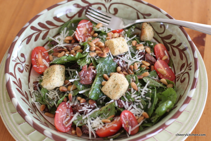 Spinach Basil Salad