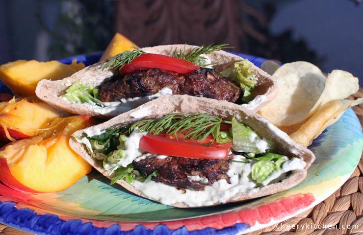 Mediterranean Burgers with Tzatziki Sauce