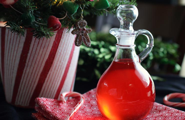 Candy Cane Simple Syrup