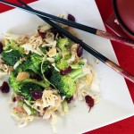 Asian Broccoli Cabbage Cranberry Salad