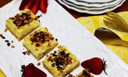 English Toffee Cheesecake Bars
