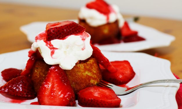 White Chocolate Strawberry Shortcakes