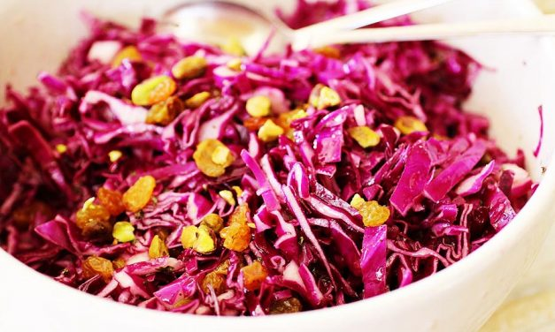 Mojo Red Cabbage Slaw